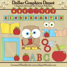 ABC Kindergarten - Clip Art - *DGD Exclusive*