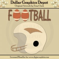 Football 2 - Cutting Files / Paper Piecing Patterns