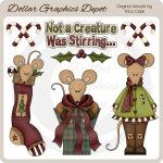 Christmas Mice 1 - Clip Art