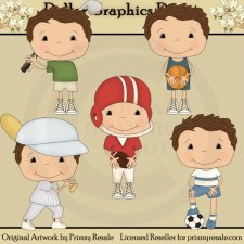 Sports Boys 1 - Clip Art