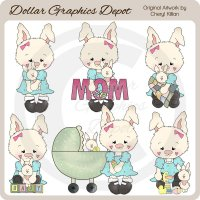 Mama Bunny - Clip Art - *DCS Exclusive*