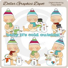 Baby It's Cold Outside 1 - Clip Art - *DGD Exclusive*