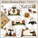 Autumn Sheep - Clip Art