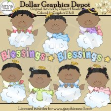 Baby Angel Blessings - Clip Art