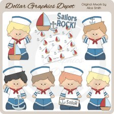 Lil Sailor Boys - Clip Art - *DGD Exclusive*