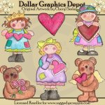 Hand Painted Valentine Wishes - Clip Art