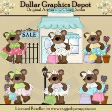 Boutique Sale Bears - Clip Art - *DCS Exclusive*