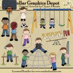 Playground Fun - Clip Art