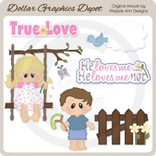 Loves Me...Loves Me Not 1 - Clip Art