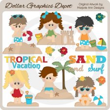 Tropical Vacation 1 - Clip Art