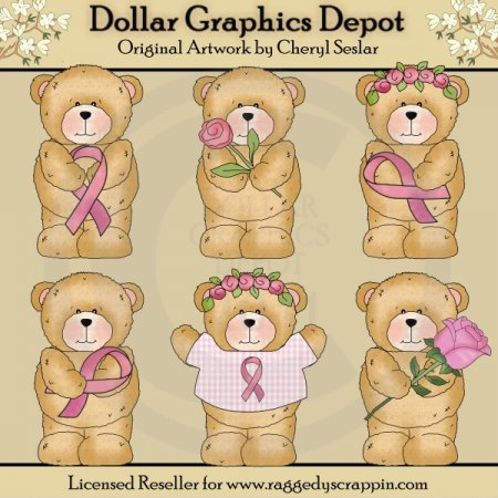 Chubby Cubby - Breast Cancer - Clip Art
