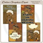 Tibbles Thanksgiving Cards - Printables