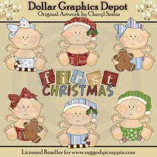Baby's First Christmas - Clip Art - *DGD Exclusive*