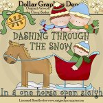 Dashing Through The Snow - Clip Art