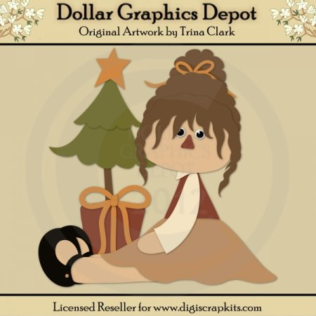 Christmas Girl 1 - Cutting Files / Paper Piecing Patterns
