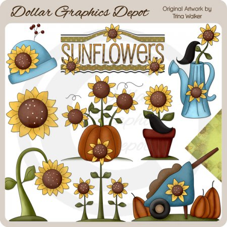 Sunflower Harvest - Clip Art