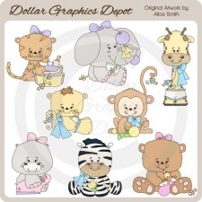 Baby Animals 1 - Clip Art - *DGD Exclusive*