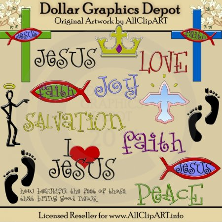 Faith In Jesus - Clip Art