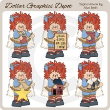 Country Annie Angels - Clip Art - *DCS Exclusive*