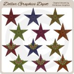 Star Ornaments - Clip Art