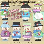 Valentine Frosty - Clip Art - *DGD Exclusive*
