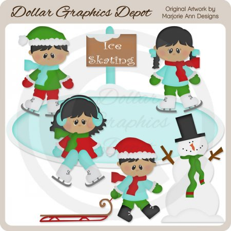 Wintertime Fun 2 - Clip Art