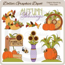 Autumn Blessings - Clip Art
