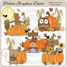 Fall Pumpkins - Clip Art
