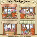 Pretty Spring Windows - Clip Art