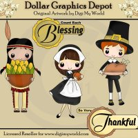 Thankful Blessings - Clip Art
