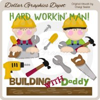 Hard Workin' Man - Clip Art