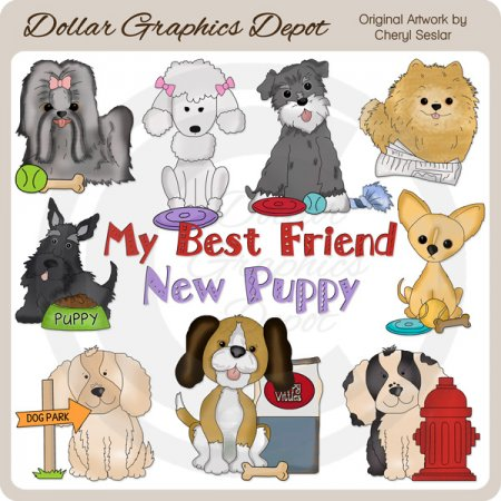 Everyday Puppies - Clip Art - *DGD Exclusive*
