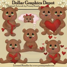 Love Bears 1 - Clip Art