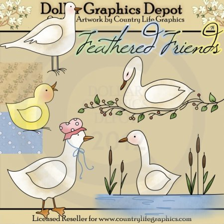 Feathered Friends - Clip Art