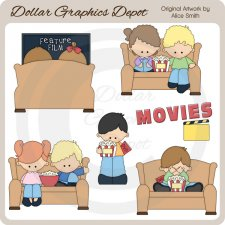 Movies - Clip Art - *DGD Exclusive*