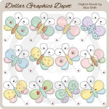 Butterflies - Clip Art - *DGD Exclusive*