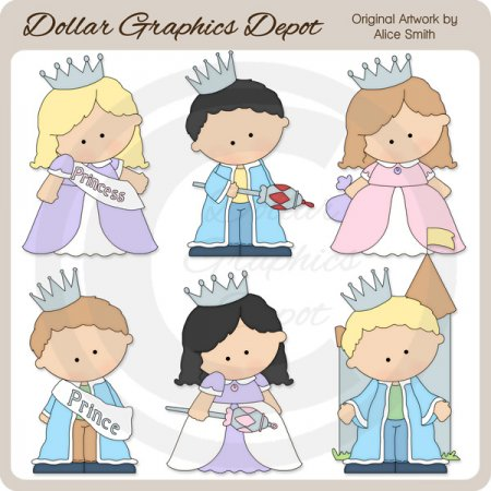 Princes and Princesses - Clip Art - *DGD Exclusive*