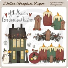 Country Christmas - Clip Art
