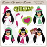 Chillin Penguins 2 - Clip Art