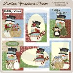 Country Snowmen Christmas Cards - Printables
