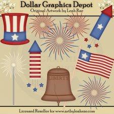 4th of July Celebration - Clip Art