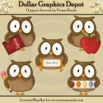 School Owls - Clip Art