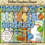 Birthday Years Scrap Kit - Boys