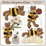 Sweet Bumble Bears - Clip Art