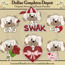 A Little Puppy Love - Clip Art