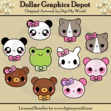 Kawaii Animal Faces