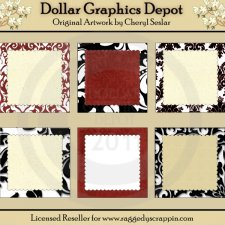 Damask Delights - Framed Starters