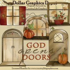 God Opens Doors - Clip Art