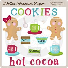 Cookies and Cocoa - Clip Art