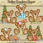 Bumble Bears - The Great Outdoors - Clip Art